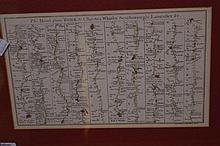 (Map) Thomas Bowen, The Road from York to Chester, Whitby,