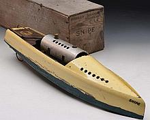 Bowman model steam boat with steam mechanism in original bo