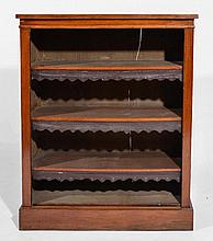 Victorian oak open bookcase with three adjustable shelves,
