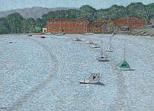 William Henry Innes (British, 1905-1999) Boats on