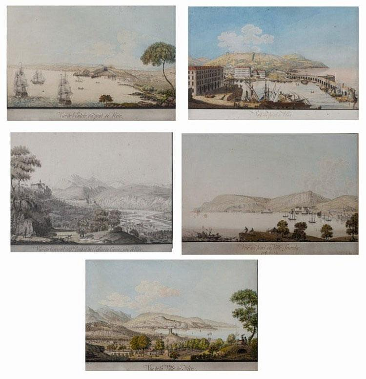 JOHANN GOTTLIEB LOHRER (1791-1840) Five views of