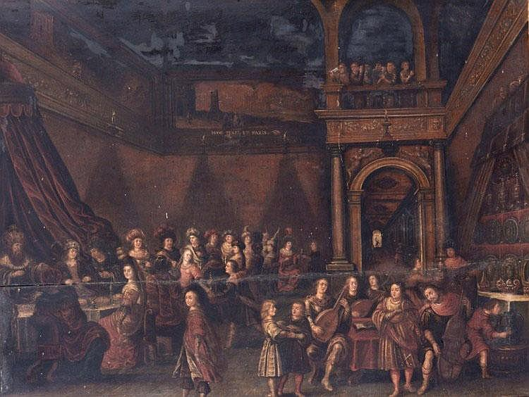 17TH CENTURY SCHOOL The feast, with crowned