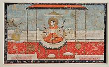 INDIAN SCHOOL  A miniature study of Vishnu, Rajasthan, 17th/18th Century, 10.75cm x 18cm