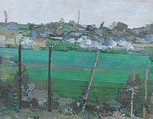 Roger De Grey (British, 1918-1995)  Sole Street  oils on canvas  50c