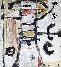 Martin Bradley (British, b.1931)  Figure and Spear, 1957  initialled and