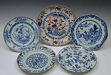 A CHINESE IMARI EXPORT SHALLOW CIRCULAR DISH, the