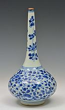 A CHINESE PORCELAIN BLUE AND WHITE SPRINKLER