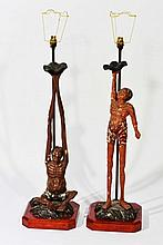 A PAIR OF JAPANESE NARA FIGURES, Ashinaga and