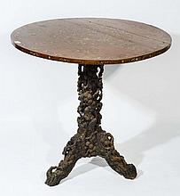 A CHINESE CIRCULAR CENTRE TABLE with mother of
