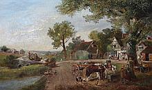 EDWARD BROOKE (fl. 1846-1878) Figures passing the