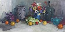 HARRY ZEEGERS (b. 1929) Still life - a vase of fl