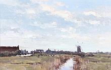 JAMES LONGUEVILLE (b. 1942) 'Landscape at Cley -