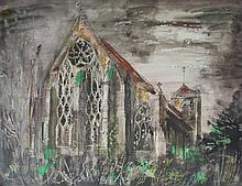 AFTER JOHN PIPER Dorchester Abbey, six colour pri