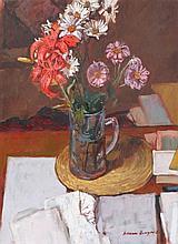 WILLIAM BOWYER (b. 1926) Still life - a jug of mi