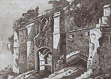 DAVID COX JNR (1809-1885) Glastonbury Abbey, sign