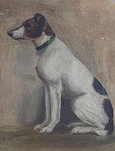 H * LEWIS Portrait of a Jack Russell seated upon