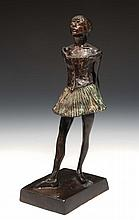 After Degas  A bronze model of a ballerina, 24.5cm high