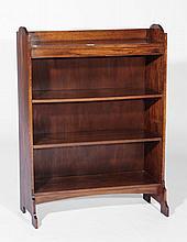 A Heals oak open bookcase  circa 1920, with four shelves, 99.5cm