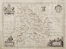 Map of Brenconshire  from James Blaeu's