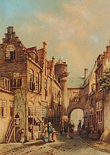 Follower of Louise Rayner (British, 1832-1924)  Continental street