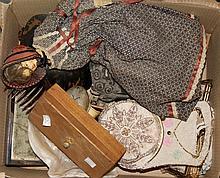 A collection of miscellaneous items  viz a Victorian doll, a mothe