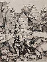 After Albert Durer  The Prodigal Son among pigs, 20th Century, etc