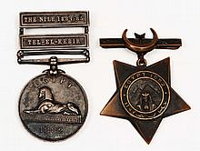 An 1882 Egypt medal  with bars for Tel-el-Kebir, and the Nile, 188