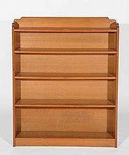 An oak open bookcase  mid 20th Century, 91cm wide, 108cm high