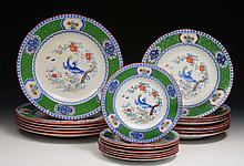 A collection of eighteen Minton's Asiatic pheasant pattern plates