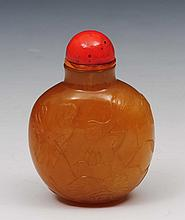 A Chinese agate oviform snuff bottle 1800-1850 pal