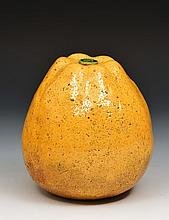 A Chinese glazed pottery large model fruit 19th Ce