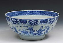 A Chinese blue and white porcelain bowl Kangxi (16
