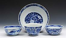 A Chinese blue and white prunus bowl Guangxu 25cm