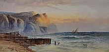 WILLIAM HENRY EARP (b. 1833) Coastal sunset with s