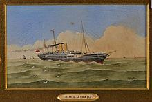 D * SENSIER The Royal Mail steamship 'Atrato', signed, wate