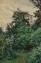 FERDINAND M. DE DARTEIN (1838-1912) 'Verrieres', signed, in