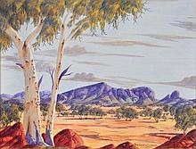 BENJAMIN LANDARA (1921-1985) Australian landscape with gumt
