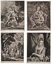 JOHN SMART AFTER JAN VAN DER VAART Queen Mary, mezzotint, 3