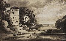 ATTRIBUTED TO DR. THOMAS MONRO (1759-1833) A ruined castle