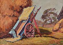 JOHN ANTHONY 'The Blue Cart', signed and dated '36, oils on