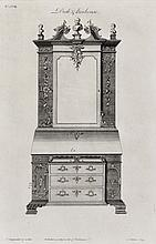 I.S. MILLER AFTER THOMAS CHIPPENDALE 'Desk and Bookcase', f