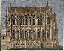 VALERIE THORNTON (1931-1991) Lancing College Chapel, etchin