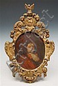 AN 18TH CENTURY OVAL MINIATURE PORTRAIT of a young
