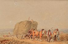 CIRCLE OF DAVID COX (1783-1859) 'THE HAYCART' wat