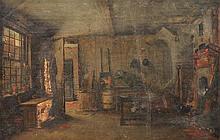 A 19TH CENTURY ENGLISH SCHOOL; A DOMESTIC INTERIO