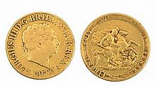 A GEORGE III SOVEREIGN, dated 1817