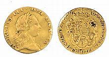 A GEORGE III QUARTER GUINEA, dated 1762