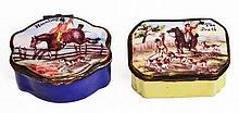 A GEORGE III STAFFORDSHIRE ENAMEL SNUFF BOX of se