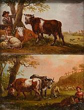 19TH CENTURY ENGLISH SCHOOL, pastoral scenes, a f