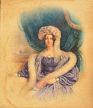 19TH CENTURY ENGLISH SCHOOL: PORTRAIT OF A LADY w